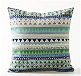 Bohemian Style Colorful Stripes Cotton Linen Throw Pillow - Best Reviews Guide