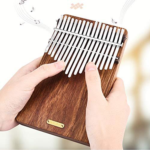 Gods Kingdom LINGTING LT-K17P 17 Keys Rosewood Plate Africa Kalimba Thumb Piano with Pick UP Coupon d0896c