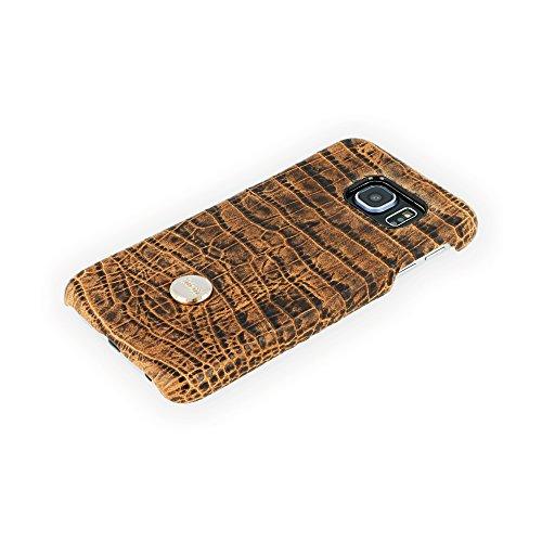 QIOTTI QX-C-0130-04-SGS6 Snapcase Q.Snap Balance Premium Echtleder für Samsung Galaxy S6 braun