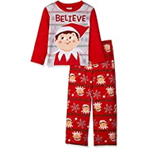 Elf on the Shelf Boys' Holiday 2-Piece Fleece Pajama Set