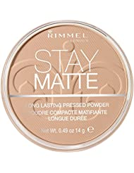 Rimmel Stay Matte Pressed Powder Natural 0.49 Fluid Ounce Soft Matte Finish Pore Minimizing Natural Look Pressed Powder