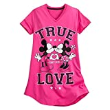 Disney Womens Mickey and Minnie Mouse Nightshirt XL/2XL Pink