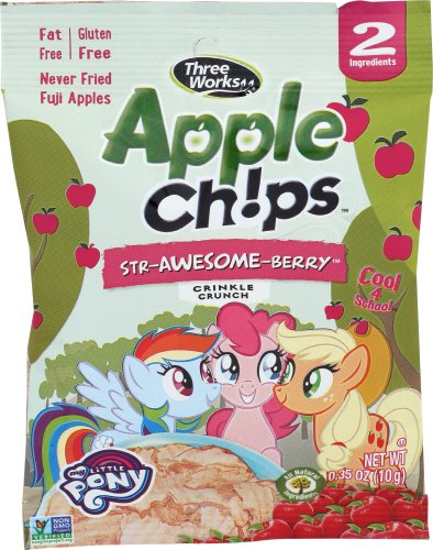 ThreeWorks Apple Chips Snacky Pack, Str-Awesome-Berry, 0.35 Ounce (Pack of 30)