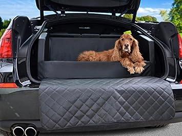 Coche cama para perros - para maletero - Manta - Auto ya en negro piel sintética: Amazon.es: Productos para mascotas
