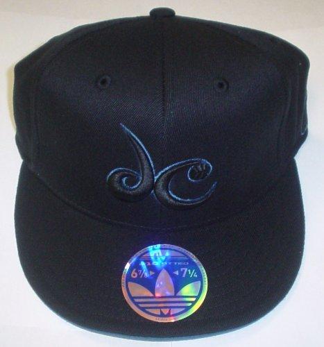 - adidas Washington Wizards 210 Fitted Flat Brim Flex Hat Size 6 7/8-7 1/4 (S/m)