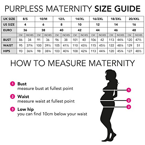 Purpless Maternity Embarazo y la Lactancia de Manga Corta Túnica Superior 7020 Light Cappuccino