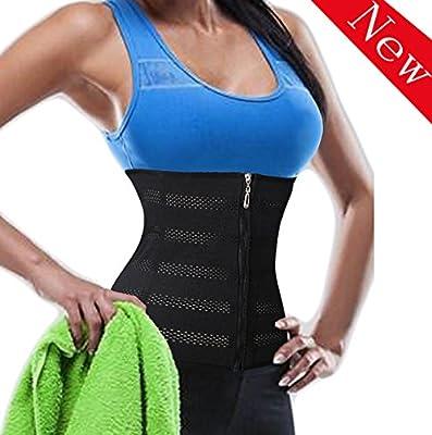 LODAY Fitness Mesh Long Torso Sport Belt Waist Slimmer Trainer With Zipper