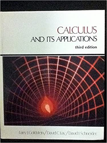Calculus and its applications: Larry Joel Goldstein: 9780131118805 ...