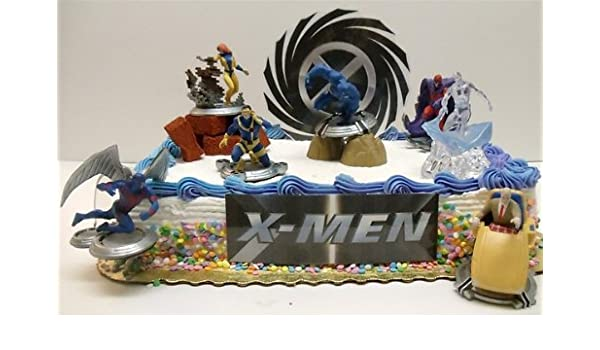 X-men Classic Birthday Cake Topper Featuring Professor X, Cyclops ...