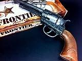 vintage toy guns - Frontier 12 Shot Cap Gun Vintage Metal Edison GIOCATTOLI Cowboy Pistol Revolver Toy Gift