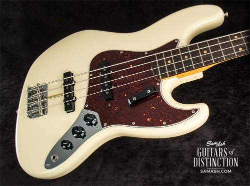 Fender American Original '60s Jazz Bass Electric Bass Guitar Olympic White (SN:V1852315)