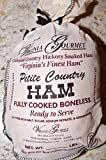 Virginia Hickory Smoked Country Ham-Cooked Boneless Southern Hickory Smoked&Cured VirginiaHam-3lbs Petite Ham Cooked, Dry Cured, De-boned, Ready to Serve. Fresh from our Curemaster(serves 20-30 ppl)