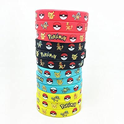12 Count Pokemon Silicone Rubber Wristbands Bracelet
