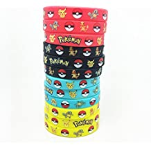 12 Count Pokemon Silicone Rubber Wristbands Bracelet