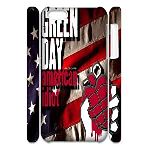 3D Print US Famous Punk Bank&Green Day Background Case Cover for iPhone 5C- Personalized Hard Cell Phone Back Protective Case Shell-Perfect as gift
