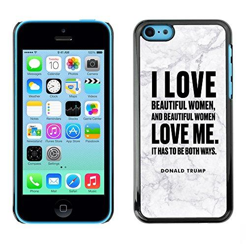 Print Motif Coque de protection Case Cover // Q04040545 Donald Trump marbre gris // Apple iPhone 5C