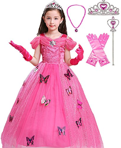SweetNicole Aurora Crystal Princess Party Costume Dress with
