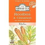 AHMAD TEA Rooibos & Cinnamon Herbal Tea,20 Count