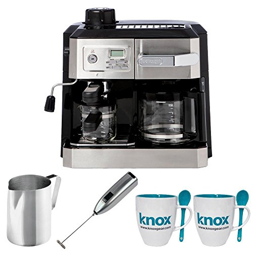 DeLonghi Combi BCO330T Drip Coffee & Espresso Machine + Stainless Steel Frothing Pitcher ...