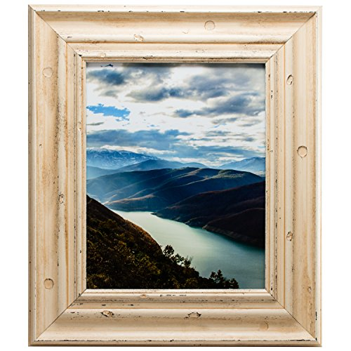 Craig Frames Appennine, Rustic Off-White Cream Picture Frame, 24 by 30-Inch For Sale