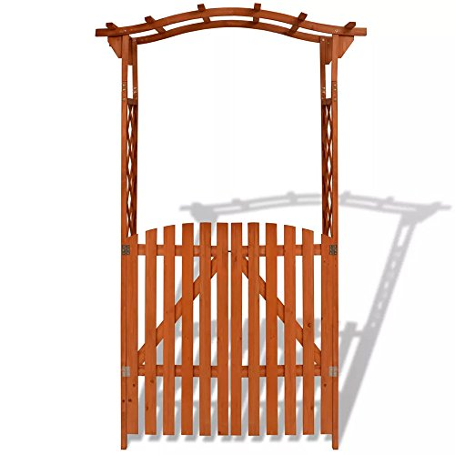 Garden Arch Gate Trellis Wood Pergola Entryway Patio Outdoor Arbor For Climbing Roses by VL