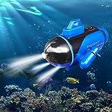 4 inch Mini RC Submarine Boat,Glowing Submarine
