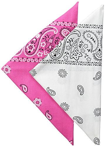 Levi's Men's 2 Pack 100% Cotton Bandana Headband Gift Sets, Pink/White, One Size -