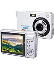 Cámara de video digital para niños, pantalla de 2.7 pulgadas 1080P HD 18MP Cámara de captura de punto digital Cámara de bolsillo para niños y regalos Cámara de captura digital para niños(plata)