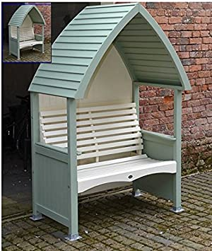 sage green furniture. ukgardens garden arbours sage green and cream wooden arbour 2 seater bench furniture a