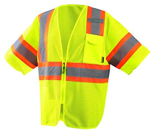 (Occunomix ECO-IMZ32T-Y5X Economy Two-Tone Mesh Vest, Class 3, 5X-Large, Yellow )