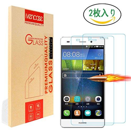 傾向がある階層市民権ivencase[2枚セット]対応Huawei Y6/Huawei Y6+/Honor 4A 強化ガラス保護フィルム (0.26mm,硬度9H) 2.5D ラウンドエッジ加工 気泡ゼロ 耐指紋 撥油性 99% 高透過率 耐衝撃 飛散防止処理