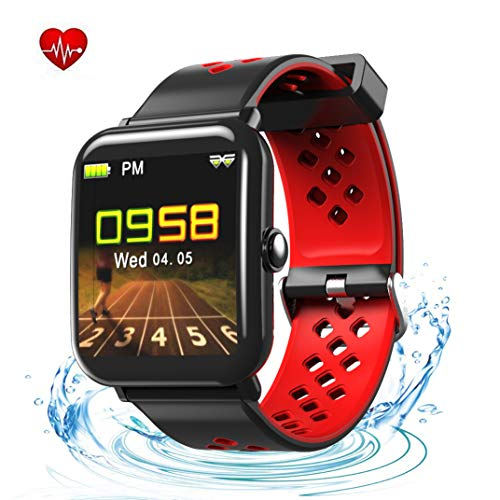 YHDKS Fitness Tracker Heart Rate Monitor-1.3'' Large Color Screen IP67 Waterproof Activity Tracker with 6 Sports Mode,Sleep Monitor,Pedometer Smart Wrist Band for Women Men, Android iOS