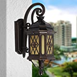CGJDZMD Wall Sconce European Retro Industrial Outdoor European Garden Wall Lamp Courtyard Light Balcony Wall Lamp Outdoor Villa Wall Lamp Walkway Outdoor Lawn Wall Lights, E27 Socket