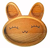 Lifetime Inc Animal Tray Decoration Kids Room Nursery Playroom Kitchen Sunroom Hallway Entrance Decore 3D Natural Wood Whimsical (Bunny)