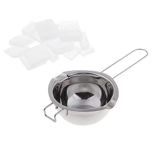 B Baosity 1 kg Jabón en bruto en cubo para el microondas o baño de ...