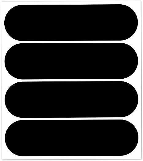 B REFLECTIVE, Pacco da 2 Kit 10 Adesivi rifrangenti//Riflettenti, Sicurezza e visibilit/à di Notte, Adesivo Universale per Bicicletta//Passeggino//Casco//Moto//Motorino//Giocattoli, 7 x 1,8 cm, Nero