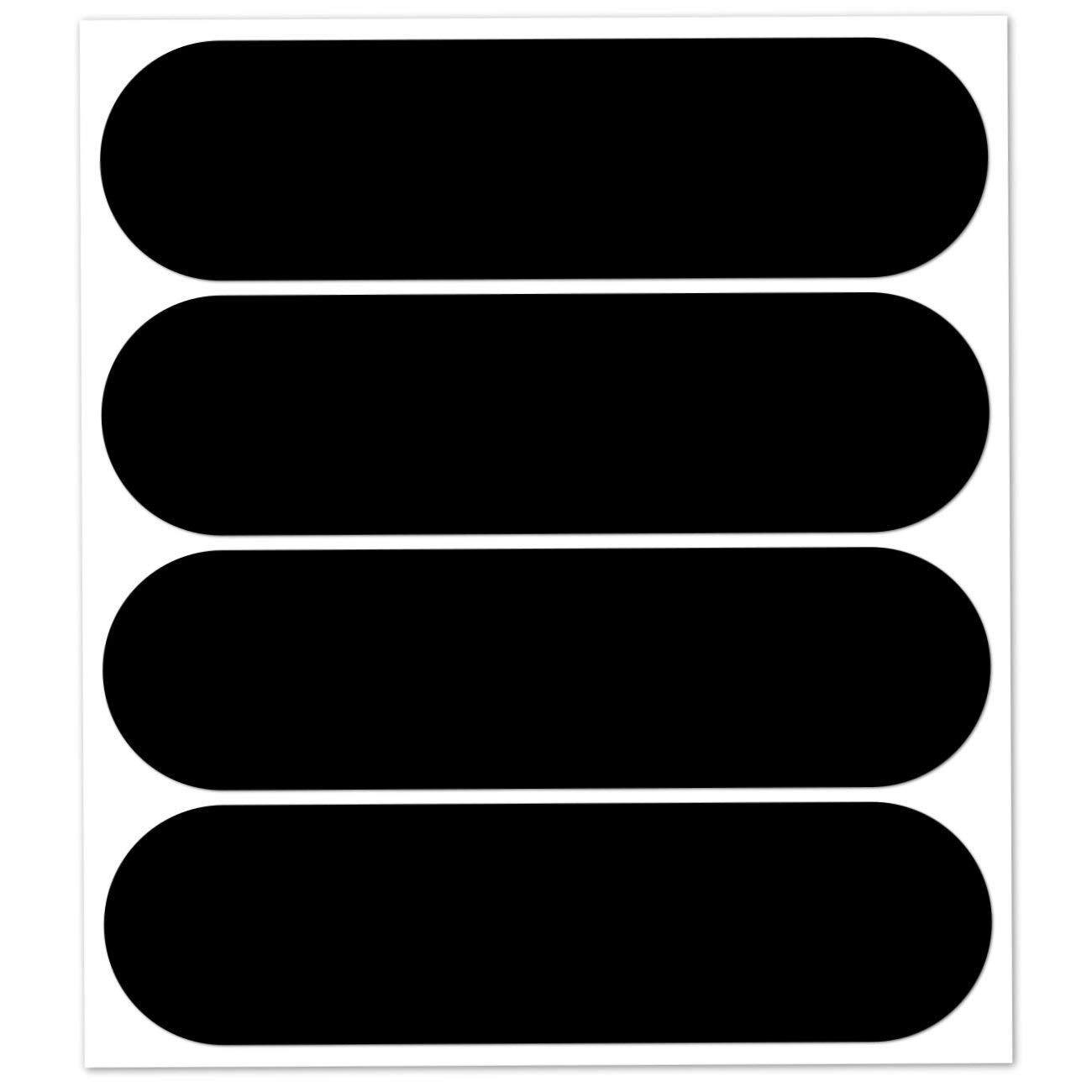B REFLECTIVE, Kit 4 Autocollants réfléchissants, 8,5 x 2,7 cm, Noir product image