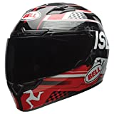 Bell Qualifier DLX Unisex-Adult Full Face Street Helmet (Isle Of Man Black/Red, X-Large) (D.O.T.-Certified)