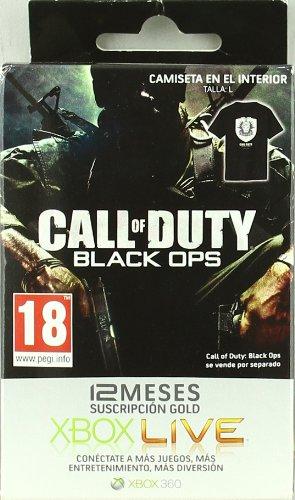 Tarjeta Suscripción 12 meses Xbox LIVE Gold Black Ops ...