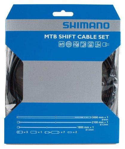 Shimano 2014 MTB PTFE Bicycle Shift Cable Set (Black)