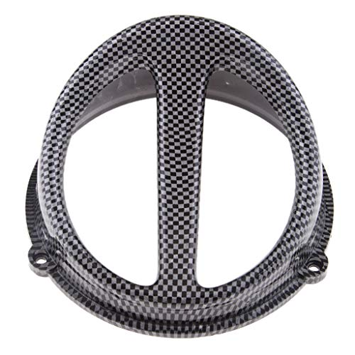 Flameer Motorcycle Engines & Component Fan Cover Air Scoop Cap for GY6 125cc 150cc - Carbon Fiber