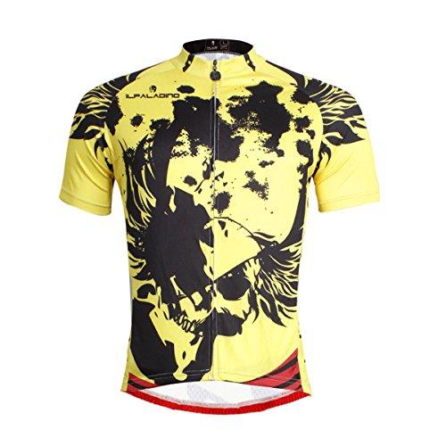 なめらかな不毛自分自身[paladin] サイクルジャージ メンズ 夏秋 半袖 カジュアル アウトドア 吸汗速乾 通気 サイクルウェア