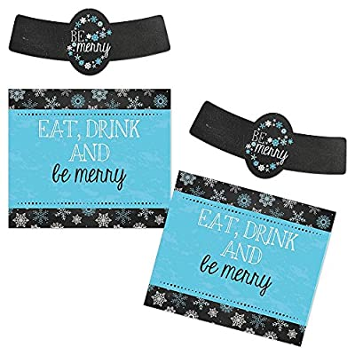 Be Merry - Holiday Beer Bottle Label Stickers - Set of 6