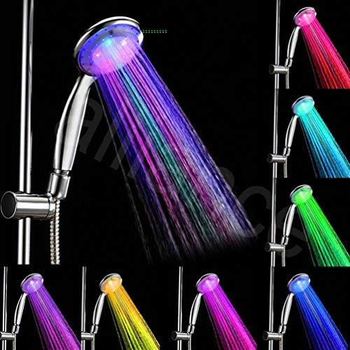 (Ledona 7 Colors Automatic Changing Bathroom Led Light Top Shower Head Hand Held)