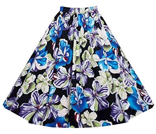 imprime Jupe de Une de 5 Chic de Hepburn Poncho plisse Jupe Haute Hippolo Taille Jupe Mot Agdwq6g