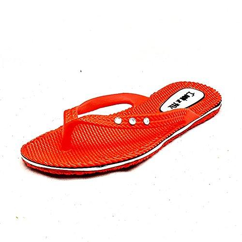SendIt4Me Sandalias Flexibles de Goma de Las Sandalias de La Playa de Las Señoras Red