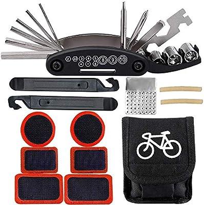 BESTZY Kit de Herramientas para Bicicletas 16 in 1 Multifunctional ...