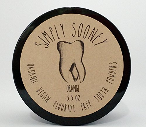 Organic Vegan Fluoride Free Remineralizing Tooth Powder Kid Safe Orange Formula Value Size 6 Month Supply