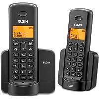 Kit Telefone + Ramal sem Fio Elgin com identificador TSF8002 Preto, Elgin, TSF8002, Preto