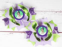 Princess Tiana Pigtail Hair Bows